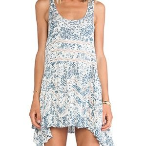 Free People Printed could and lace slip NWT